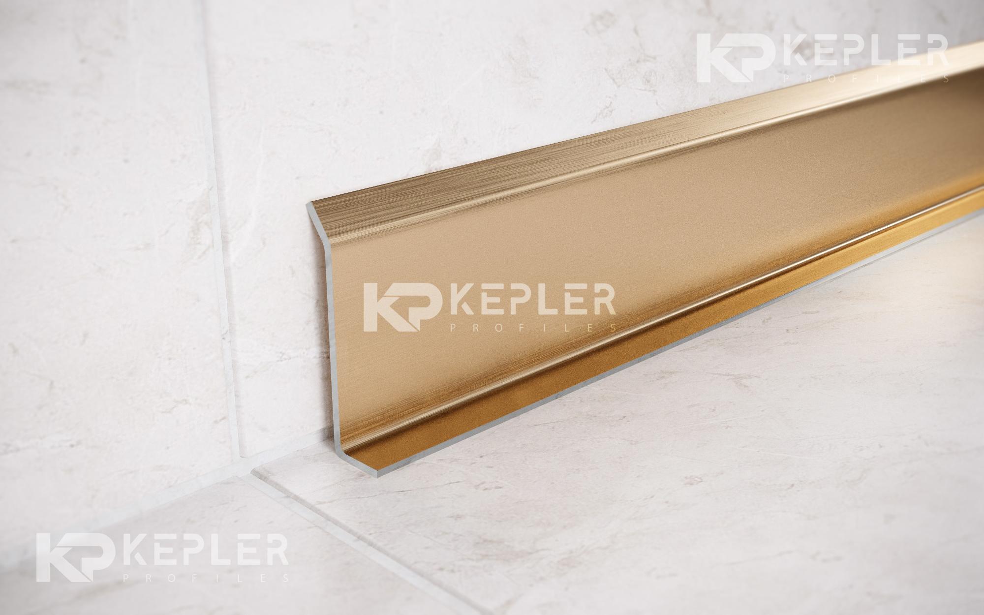 ПЛИНТУС ИЗ НЕРЖАВЕЮЩЕЙ СТАЛИ НАПОЛЬНЫЙ ШИРИНОЙ 60 ММ FiL 60 Kepler profiles